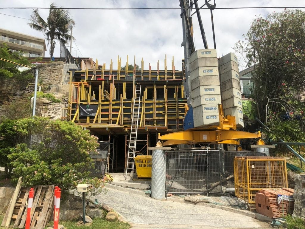 Formwork on a residential property