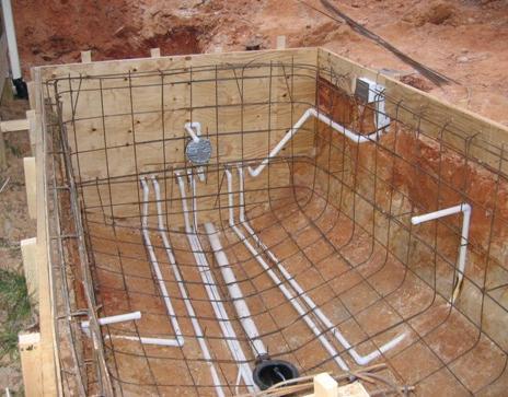 Swimming pool concreting