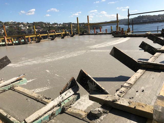 concreter difficult access