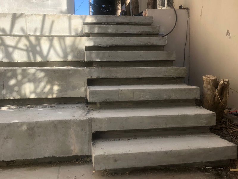 exterior concrete stair construction