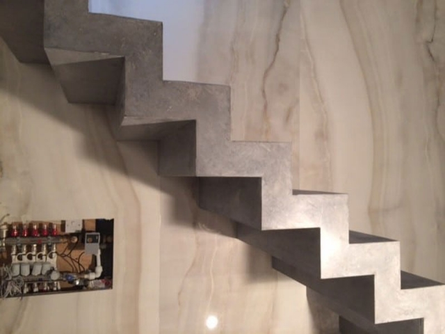 floating concrete stair design